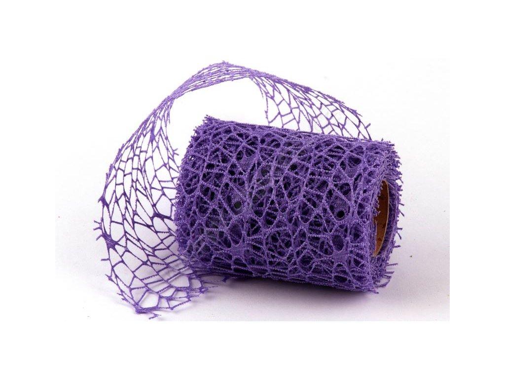 spider fialova dekorace