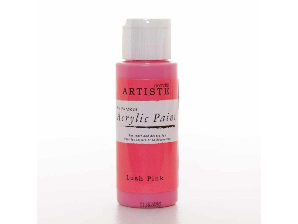 akrylova barva ruzova