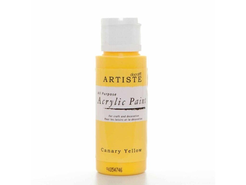 akrylova barva canary yellow