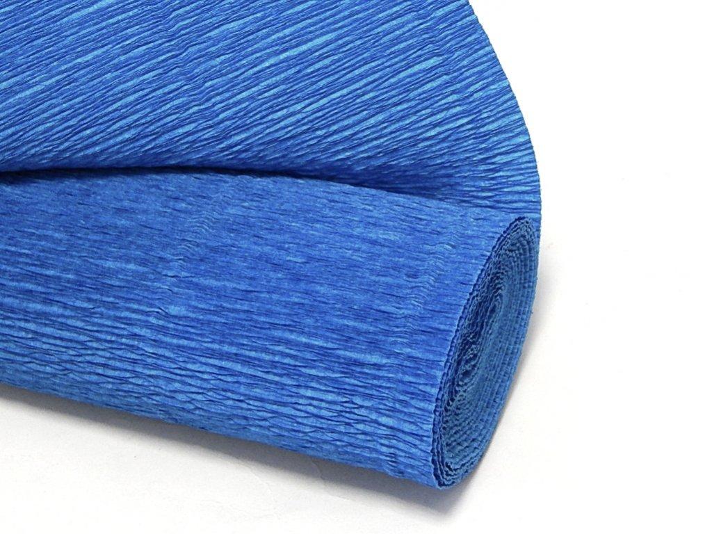 krepovy papir modry