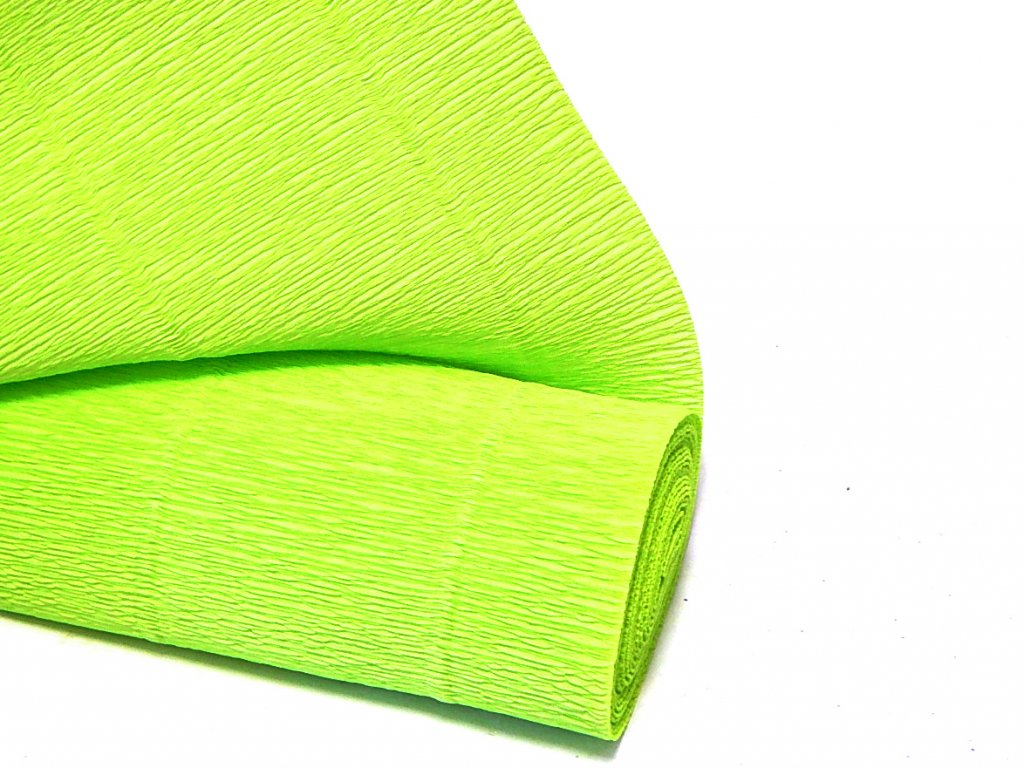 krepovy papir zeleny svetle