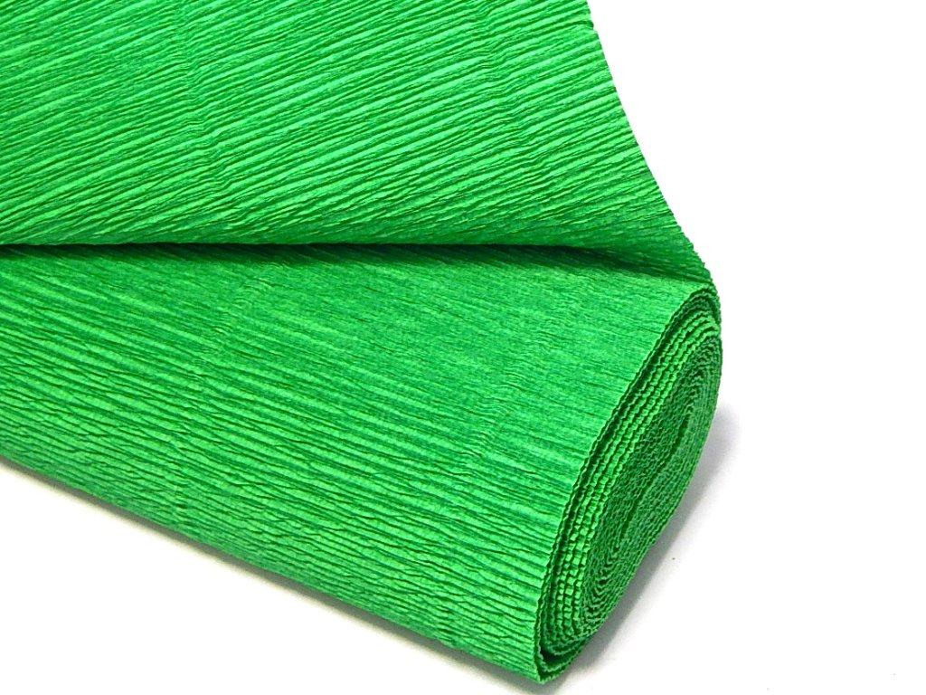 krepovy papir zeleny