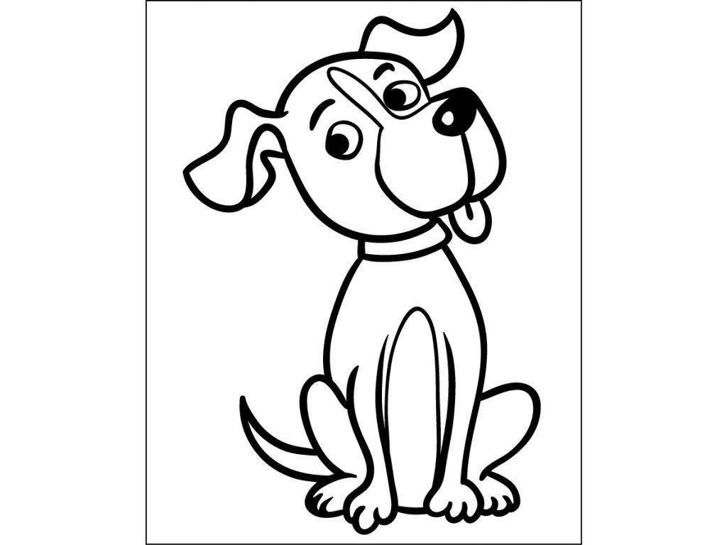 samolepici sablona pes