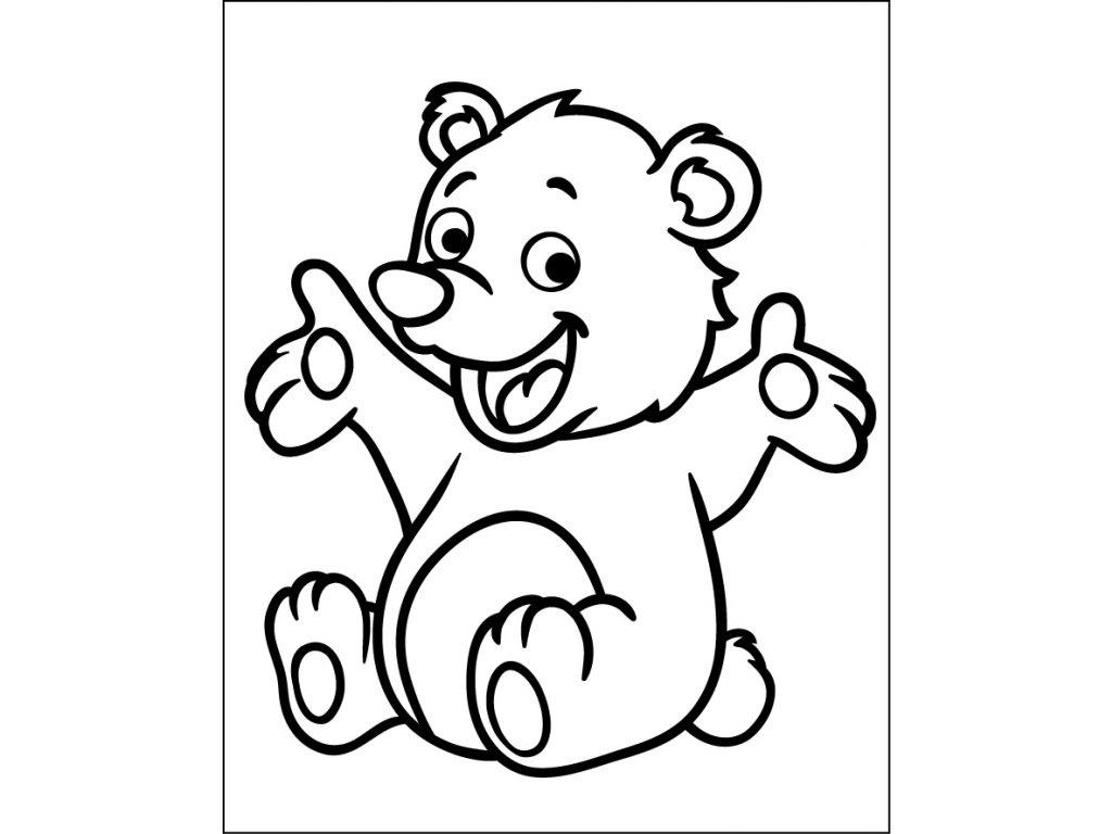 medved samolepici sablona 12x15