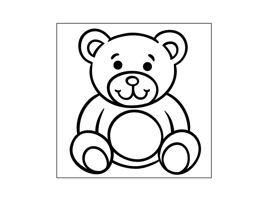 samolepici sablona medvidek 10x10