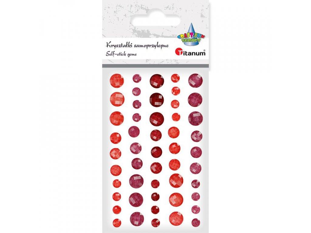 samolepky kaminky cervene mix