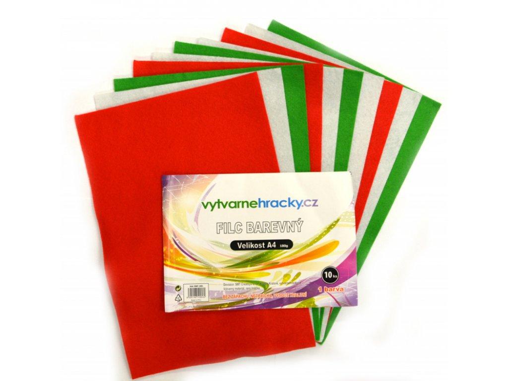 filc barevny vanocni mix