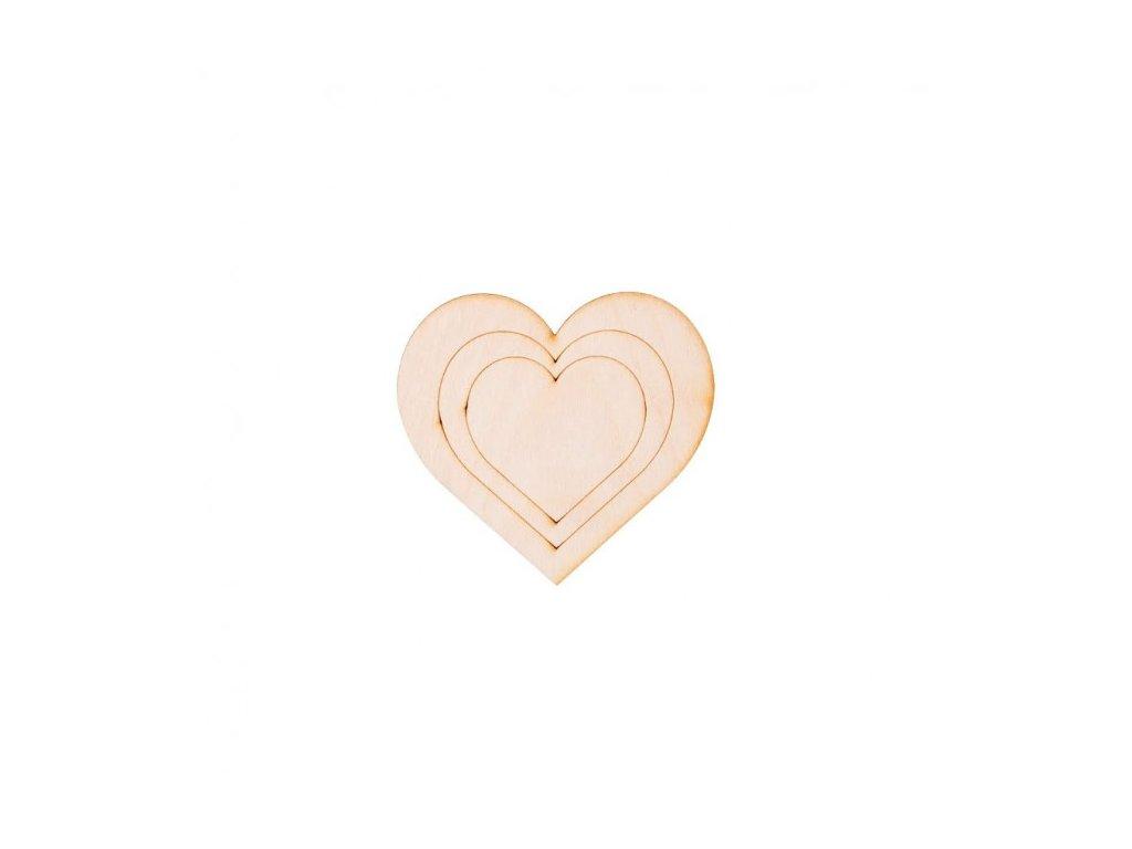 srdce dekorace vyrez z preklizky