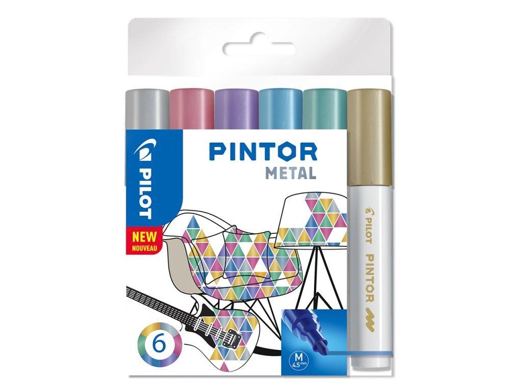 2894 sada 6ks dekorativnich popisovacu pilot pintor m metal