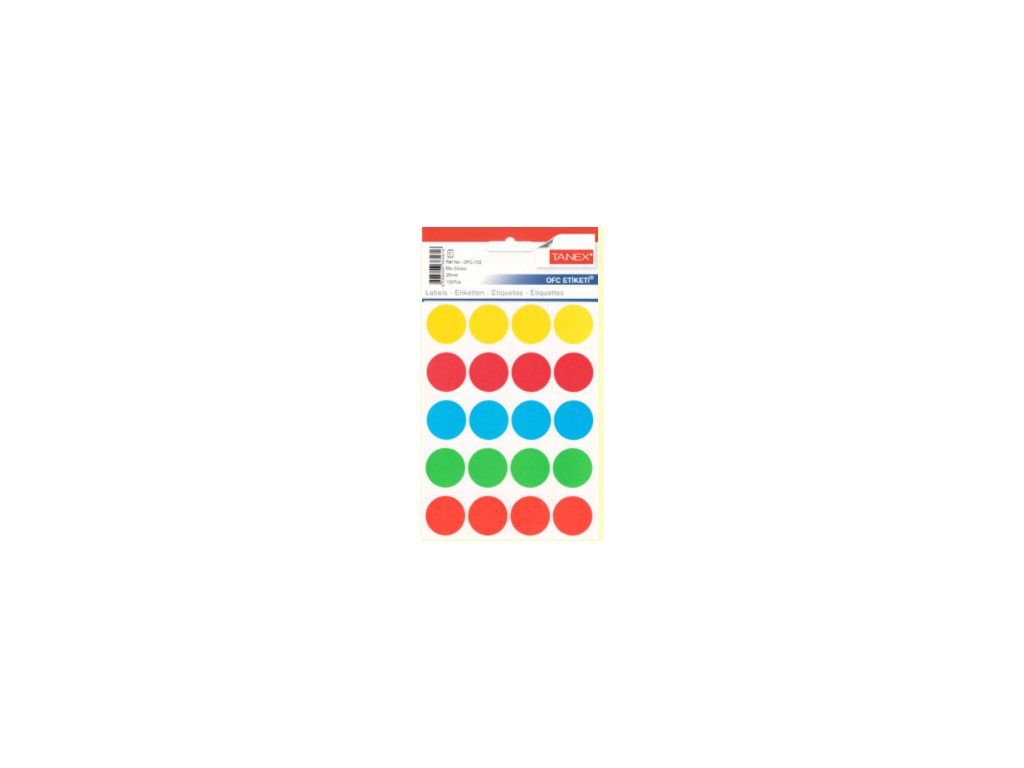 etikety kreativni tvoreni barevne