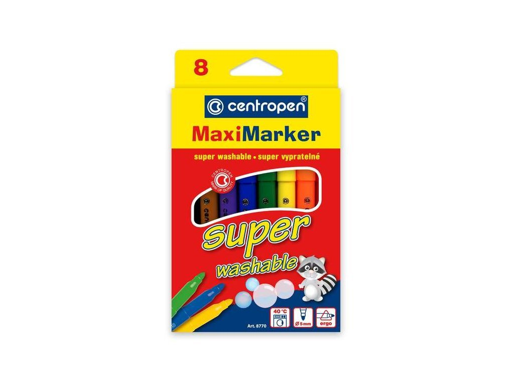 2043 detske fixy centropen maxi supervypratelne 8770 sada 8ks