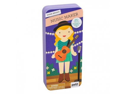 muzikantka magneticka puzzle