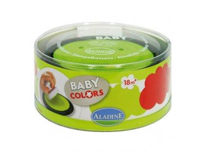 stampobaby cervena a zelena poduska