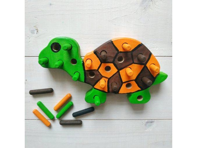 Kolíková vkládačka - želva oranžová