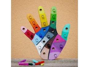 Kolíková vkládačka - ruka