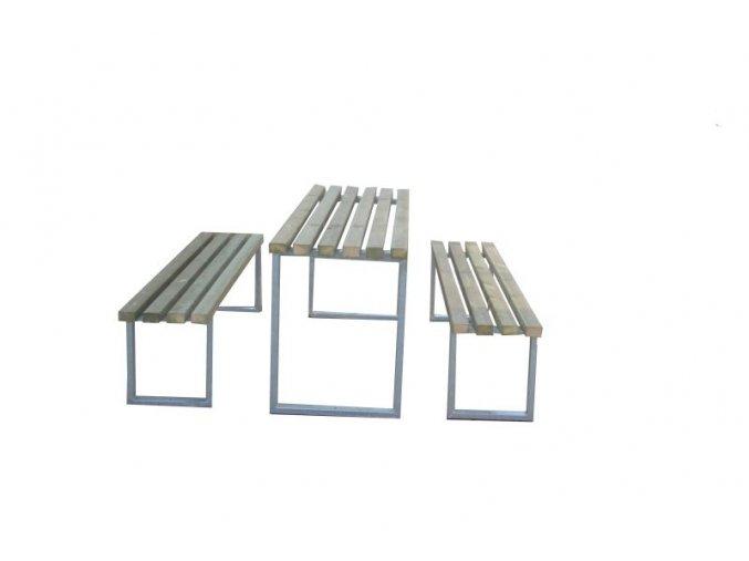 Monkey´s stůl s kovovou konstrukcí 2 m