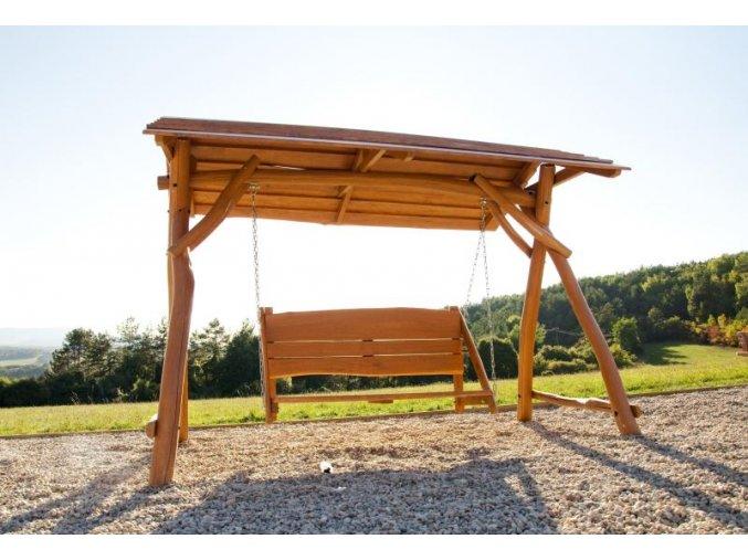 Houpací lavice z akátového dřeva .
