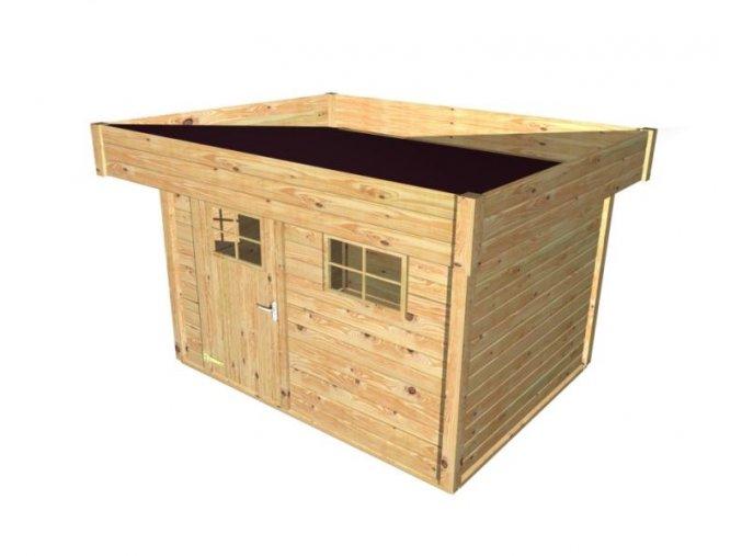 Nářaďový domek H4 (240 x 212 cm) síla stěn - 19mm