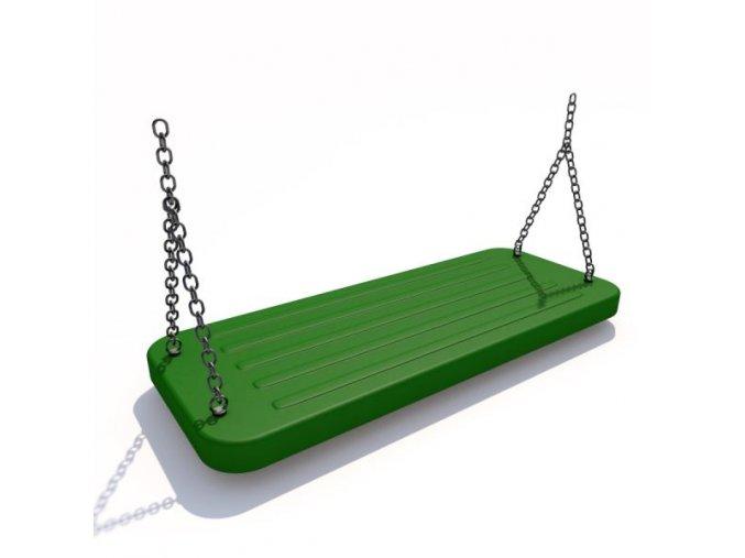 Houpačka aluminium zelená .