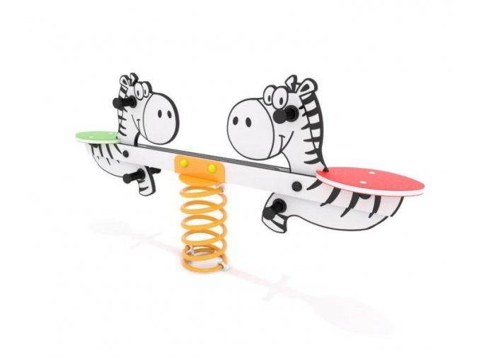 Pružinová dvouhoupačka Monkey's - Zebra .