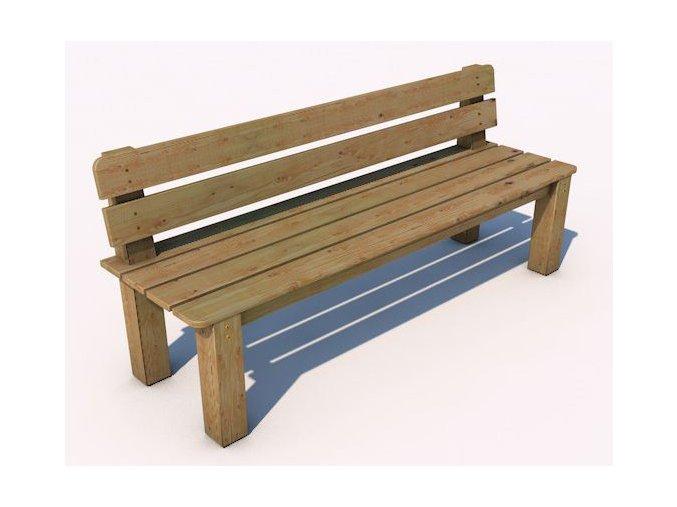 Monkey´s lavička s opěradlem 12 - 2000 .