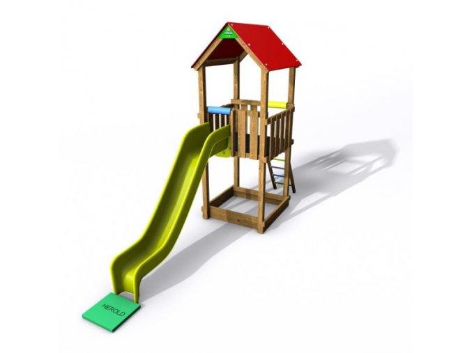 Flexi věž se střechou - 150 Premium .