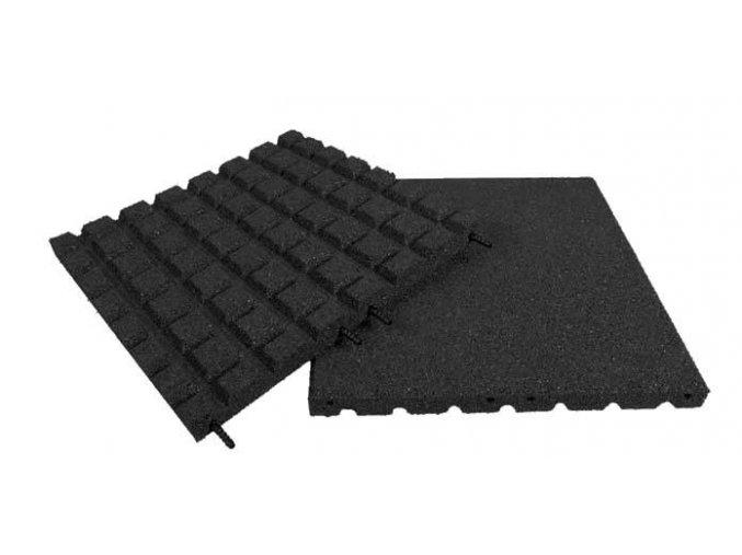 Pryžová deska 1x1m černá - výška pádu 1,7 m .