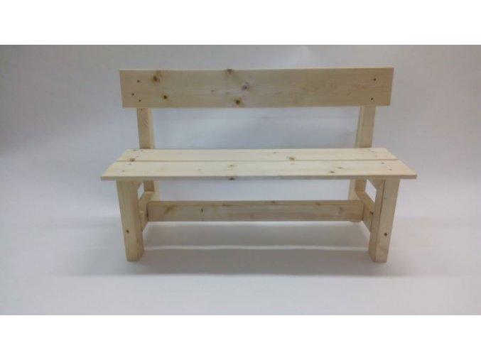 Dětská dřevěná lavice s opěradlem Dáša .