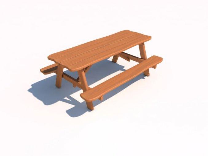 Piknikový stolek z akátu 200 .
