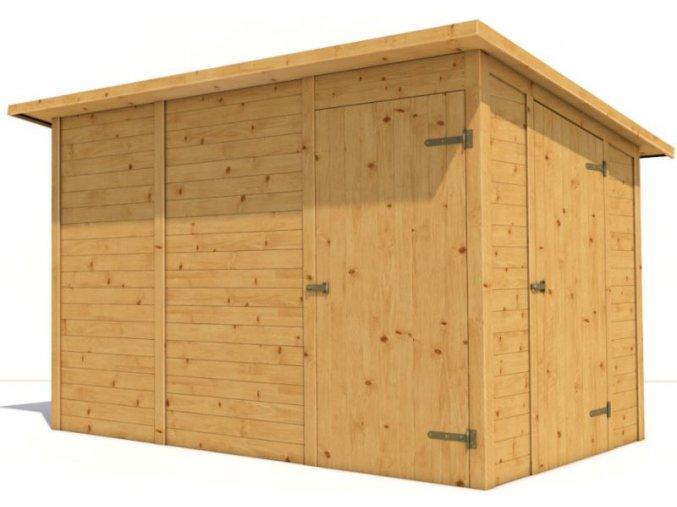 Nářaďový domek H9A 6,1 m2 350x200 cm tl. 19 mm