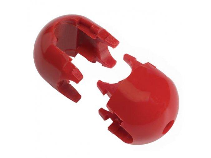 Spojovací díl k sítím - dvoudílný - červený .