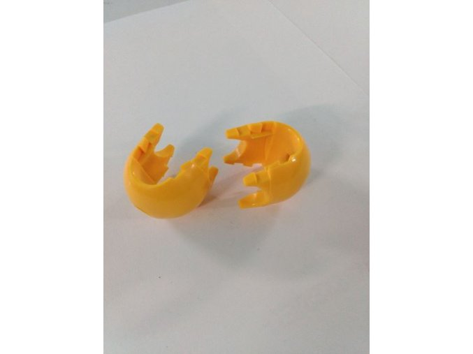 Spojovací díl k sítím - dvoudílný - žlutý .