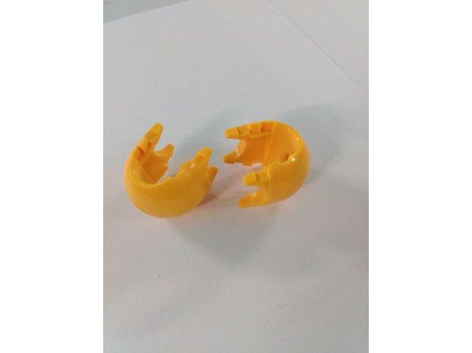 Spojovací díl k sítím - dvoudílný - žlutý