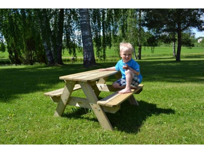 Dětský piknikový stolek LISBET 90x89x50cm
