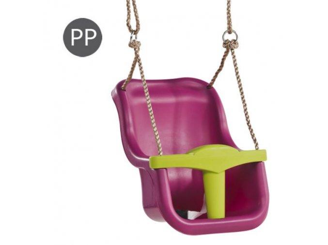 HOUPAČKA Monkey´s Home plastová Baby Luxe TMAVĚ RŮŽOVÁ .
