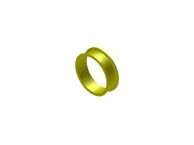 Náhradní díl na tobogán rovný 25 cm žlutý .