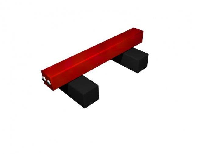 Hravé lavičky - Monkey´s Vagón barvený .