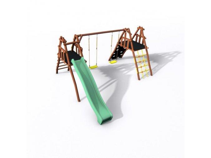 Dětské hřiště Monkey´s Home Honzík 150 B AKÁT .