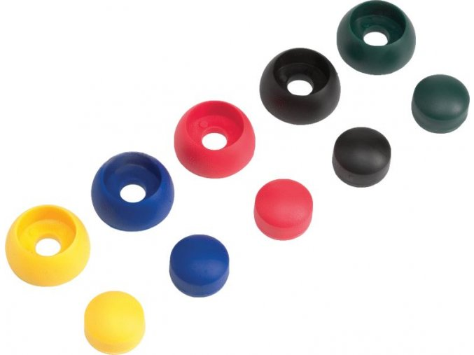 Krytky šroubů 8/10mm žlutá 10ks/bal. .
