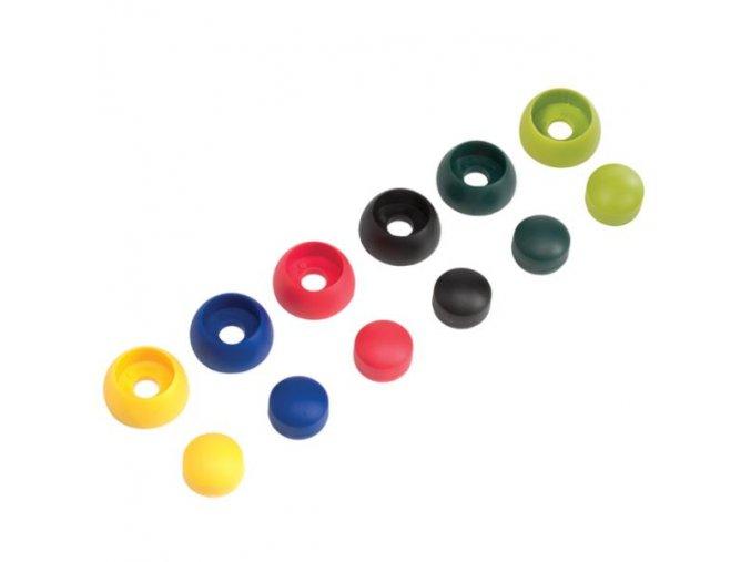 Krytky šroubů 8/10mm světle zelená 10ks/bal. .