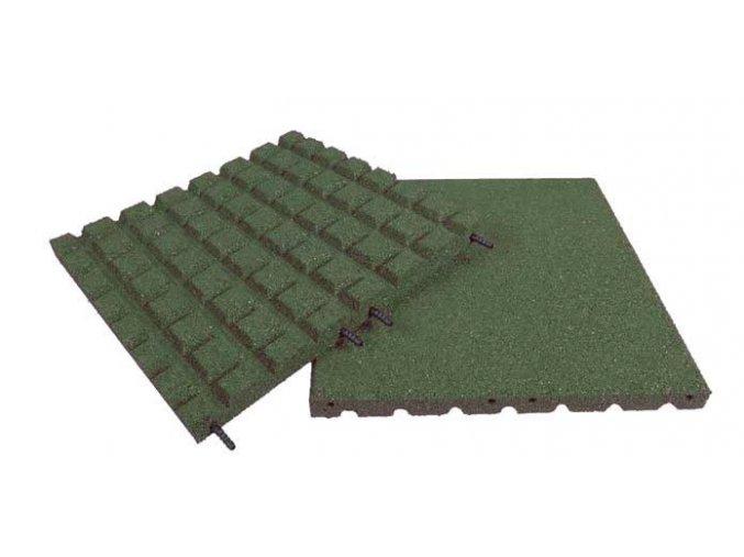 Pryžová deska 1x1m zelená  - výška pádu 2,3 m .