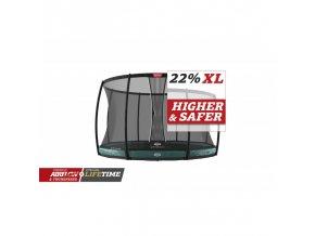 berg elite inground 430 green safety net dlx xl