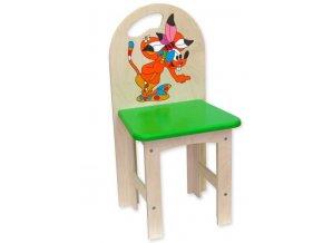 Dětská dřevěná  židlička s motivem - Fandy .
