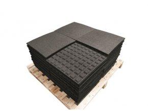 Pryžová deska 0,5x0,5 m černá - výška pádu 1m .