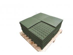 Pryžová deska 0,5x0,5 m zelená - výška pádu 1m .