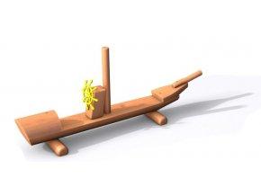Hravá lavička Loď z akátu .