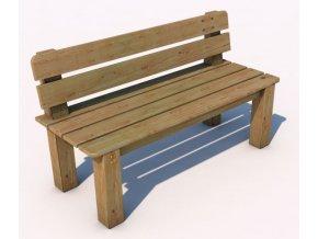 Monkey´s lavička s opěradlem 12 - 1500