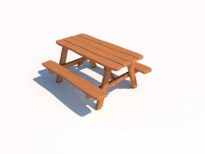 Piknikový stolek z akátu 160