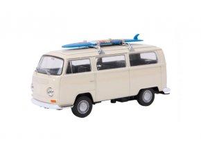 Model automobilu VW autobus T2+surfovací prkno .