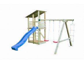 Dětské hřiště s houpačkou Imprest MINNA 440x260x300cm